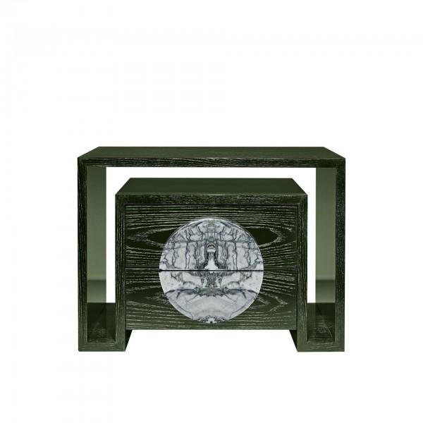 Duplo U Bedside Table with Stone [II]