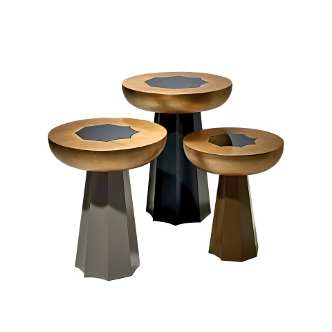 Set of 3 Tables in gold
