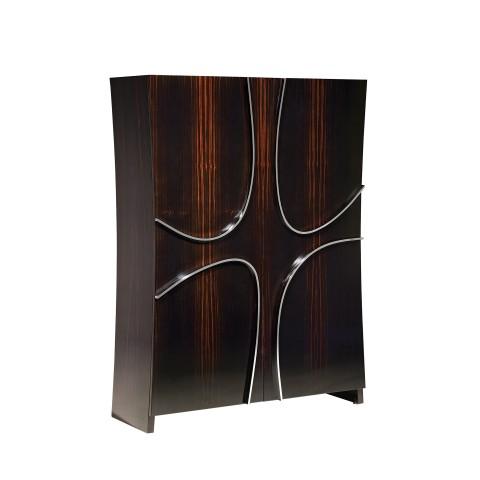 Curve Silver Cabinet